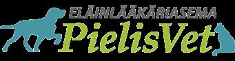 Pielisvet Logo - Eläinlääkäriasema Pielisvet, logossa vasemmalla koiran ja oikealla kissan silhuetti